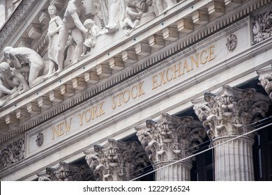 NEW YORK CITY, UNITED STATES - CIRCA OCTOBER 2016: New York Stock Exchange (NYSE) building, New York City, USA