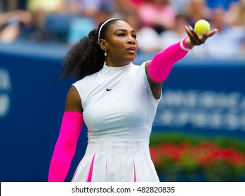 NEW YORK CITY, UNITED STATES - SEPTEMBER 5 : Serena Williams in action at the 2016 US Open Grand Slam tennis tournament