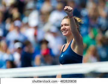 NEW YORK CITY, UNITED STATES - SEPTEMBER 5 : Simona Halep in action at the 2016 US Open Grand Slam tennis tournament