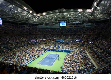 NEW YORK CITY, UNITED STATES - SEPTEMBER 5 : Ambiance inside Arthur Ashe Stadium at the 2016 US Open Grand Slam tennis tournament