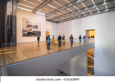 New York City, United States - May 15, 2017: Hall in Museum of Modern Art.