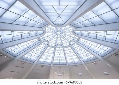 New York City, United States - May 13, 2017: Interior of The Guggenheim Museum.