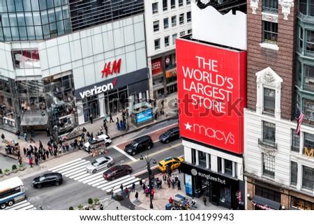 706413045e933 New York City USA April 7 Stock Photo (Edit Now) 1104199943 ...