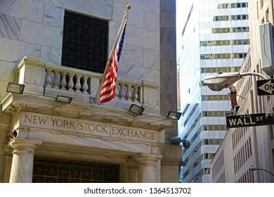New York City, USA - August 9, 2015: New York Stock Exchange