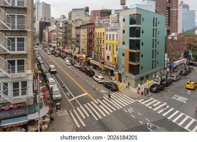 New York City, USA - August 6, 2019: buildings of New York during a cloudy day
