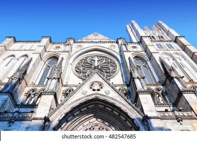 New York City, USA - Cathedral of St. John the Divine, head church of Episcopal Diocese of New York.