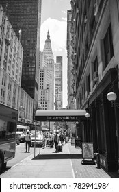 NEW YORK CITY, USA - CIRCA JUNE, 2016: A view of a street in Midtown Manhattan, New York City.