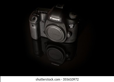 New York City, U.S.A - December 24, 2015:Canon 5D Mark III DSLR Body.The Canon 5D Mark III was released in March 2012,it's a 22,3 Megapixel DSLR Camera and the successor of the famous Canon 5D Mark II
