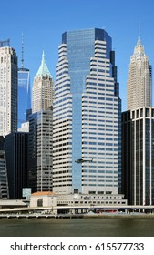 New York City, USA - December 20, 2015: Buildings of Lower Manhattan - One Financial Square.