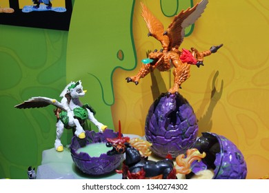 New York City, New York USA - February 18, 2019: Toy Fair New York Breakout Beasts on display