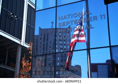 New York City, USA - February 14, 2016:  The entrance of National September 11 Memorial Museum at New York City on February 14, 2016.