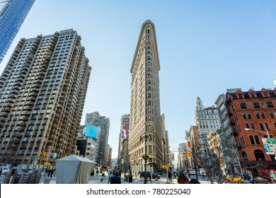New York City, New York/ USA - January 8, 2014: The Flat Iron Building, New York City