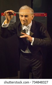 NEW YORK CITY, USA – JULE 13, 2013: Leonard Bernstein wax figure at Madame Tussauds wax museum in Times Square in New York.