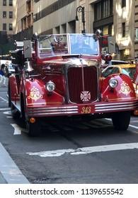 New York City, New York, USA - July 18, 2018: NYC Fire truck 343