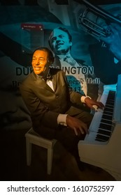NEW YORK CITY, USA – JULY 13, 2013: Duke Ellington wax figure at Madame Tussauds wax museum in Times Square in New York.