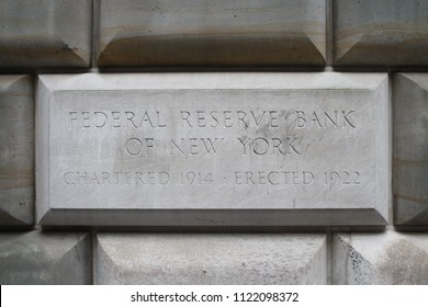 New York City, New York, USA - June 27, 2018: Federal Reserve