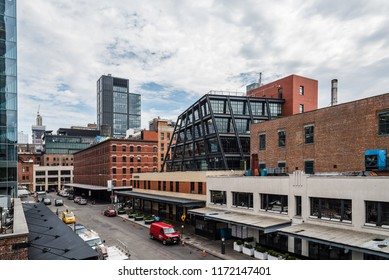 New York City, USA - June 22, 2018:  Meatpacking district in Chelsea. It is the most fashionable leisure area in town
