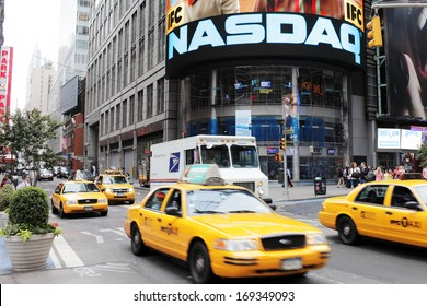 NEW YORK CITY, USA - JUNE 12: NASDAQ building on Times Square. NASDAQ is an American stock exchange. June 12, 2012 in New York City, USA