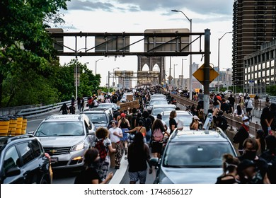 New York City, New York / USA - June 2 2020. Protests and looting in New York. Looting and rioting protests New York City over George Floy death. Police and protesters in Manhattan. Police brutality.
