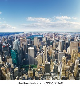 New York City, USA - June 20, 2014: Aerial view of New York City from the Empire State Building.