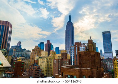 NEW YORK CITY, USA. JUNE 2016. Empire State Building building is located in midtown Manhattan and was finished in 1931