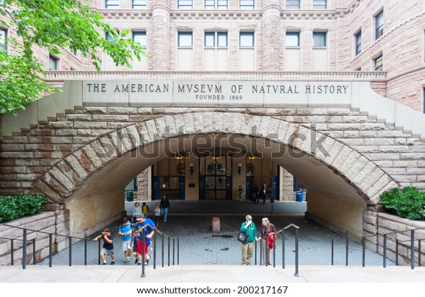 NEW YORK CITY, USA - JUNE 9, 2014: Historic American Museum of Natural History in NYC on Jan 6 2014. This museum on Central Park West was founded in 1869 by President Theodore Roosevelt and others.