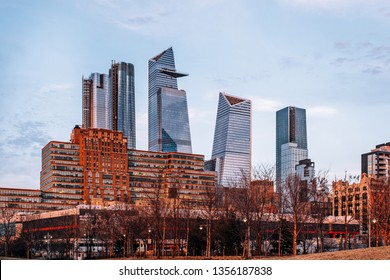 New York City - USA - Mar 14 2019: Hudson Yards is a real estate development in the Chelsea and Hudson Yards neighborhoods of Manhattan, New York City.