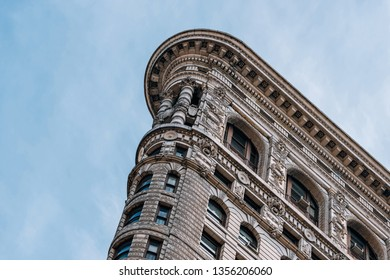 New York City - USA - Mar 14 2019: The Flatiron Building, originally the Fuller Building in the Flatiron District neighborhood of borough of Manhattan, New York City.