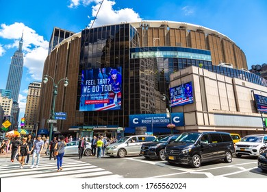 NEW YORK CITY, USA - MARCH 15, 2020: Madison Square Garden in New York City, USA