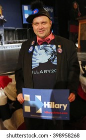 New York City, New York, USA, March 30, 2016; Skylar V poses before Democratic Presidential Candidate Hillary Clinton speaks at the Apollo Theater in Harlem, New York City.
