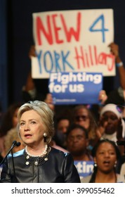 New York City, New York, USA, March 30, 2016; Democratic Presidential Candidate Hillary Clinton speaks at the Apollo Theater in Harlem, New York City.