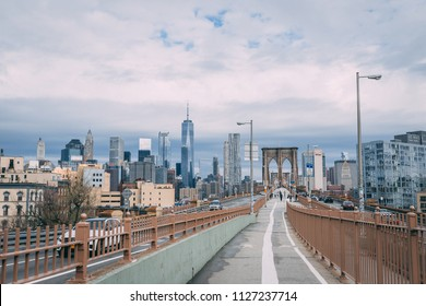 NEW YORK CITY, NEW YORK, USA MAY 2018: Brooklyn Bridge. Editorial only.