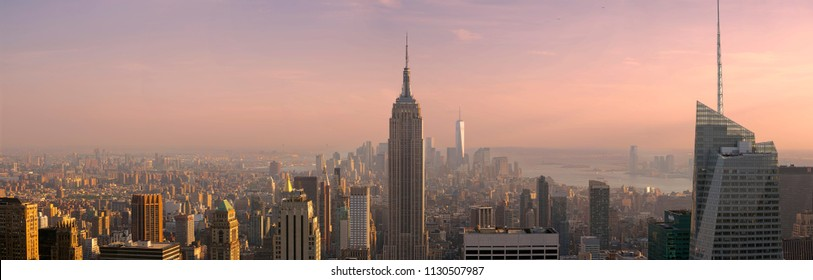 New York City, USA - May 27, 2015: New York City Manhattan Midtown view with Empire State Building. May 27, 2015 New York City, USA.