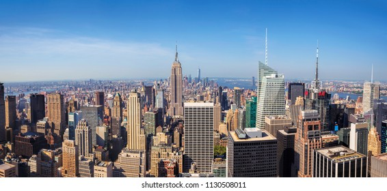 New York City, USA - May 31, 2015: New York City Manhattan Midtown view with Empire State Building. May 31, 2015 New York City, USA.