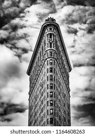 New York City, USA, May 2018, view of the top part of the Flatiron building