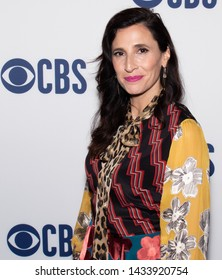 NEW YORK CITY, NEW YORK, USA - MAY 15, 2019: Michaela Watkins attends the CBS Upfront Red Carpet at the Todd English Food Hall in New York City, New York, USA, on May 15, 2019.