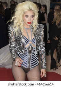 New York City, USA - May 2, 2016: Lady Gaga attends the Manus x Machina Fashion in an Age of Technology Costume Institute Gala at the Metropolitan Museum of Art