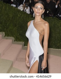 New York City, USA - May 2, 2016: Emily Ratajkowski attends the Manus x Machina Fashion in an Age of Technology Costume Institute Gala at the Metropolitan Museum of Art