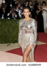 New York City, USA - May 2, 2016: Kim Kardashian attends the Manus x Machina Fashion in an Age of Technology Costume Institute Gala at the Metropolitan Museum of Art