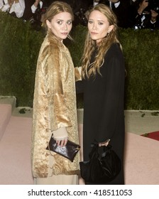 New York City, USA - May 2, 2016: Mary-Kate and Ashley Olsen attend the Manus x Machina Fashion in an Age of Technology Costume Institute Gala at the Metropolitan Museum of Art