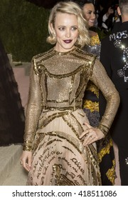 New York City, USA - May 2, 2016: Rachel McAdams attends the Manus x Machina Fashion in an Age of Technology Costume Institute Gala at the Metropolitan Museum of Art