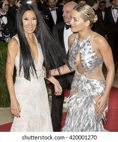 New York City, USA - May 2, 2016: Vera Wang and Rita Ora attend the Manus x Machina Fashion in an Age of Technology Costume Institute Gala at the Metropolitan Museum of Art