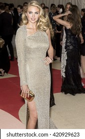 New York City, USA - May 2, 2016: Kate Upton attends the Manus x Machina Fashion in an Age of Technology Costume Institute Gala at the Metropolitan Museum of Art