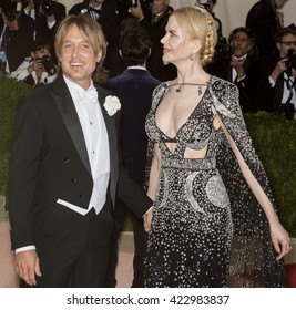 New York City, USA - May 2, 2016: Keith Urban and Nicole Kidman attend the Manus x Machina Fashion in an Age of Technology Costume Institute Gala at the Metropolitan Museum of Art