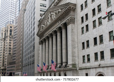 NEW YORK CITY, USA. MAY 2015. New York Stock Exchange. NYSE is the largest stock exchange in the world.