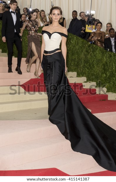New York City, USA - May 2, 2016: Emma Watson attends the Manus x Machina Fashion in an Age of Technology Costume Institute Gala at the Metropolitan Museum of Art
