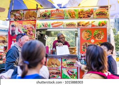 Halal Food Cart Images, Stock Photos & Vectors | Shutterstock