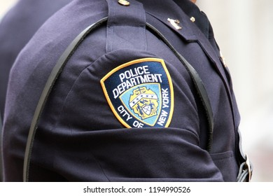 New York City, USA - October 1, 2018: New York Police Department Memorial Service at St Patrick Cathedral, 5th Avenue. Courtesy; Professionalism; Respect.