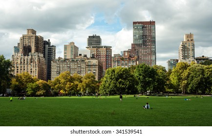 New York City, USA - October 14, 2015: The Meadow in Central Park