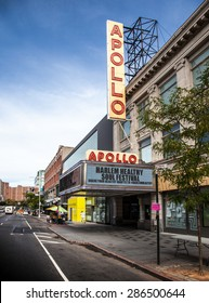 NEW YORK CITY, USA - SEPTEMBER, 2014: Apollo theatre in Harlem, New York City